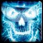 icon Neon Skull FBI Live Wallpaper