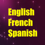 icon Learn English French Spanish