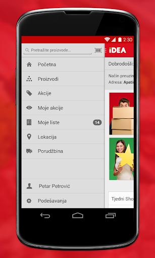 IDEA mobiele applicatie